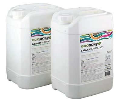 ECOPOXY LIQUID PLASTIC 40 L KIT (Approximate US 10 gallons) new