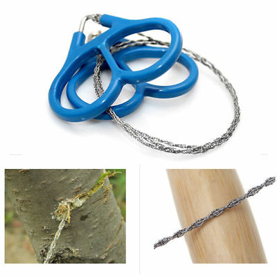 New Wire Saw Camping Stainless Steel Emergency Pocket Chains Saw Survival Gear