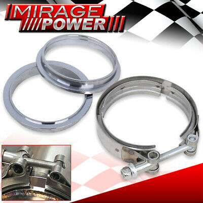 """Heavy Duty 3/"""" Vband V-Band Downpipe Turbo Clamp Weldable Exhaust Flange"""