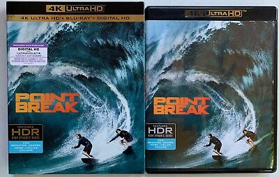 Point Break 2015 4K Ultra Hd Blu Ray 2 Disc Set + Slipcover Sleeve Free Shipping