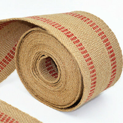 1-5 Metres Linen Jute Upholstery Webbing Furniture Fabric 50mm Craft  Material