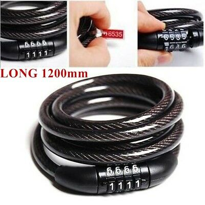 Combination Number Code Bike Bicycle Cycle Lock Heavy Duty Security Cable Chain