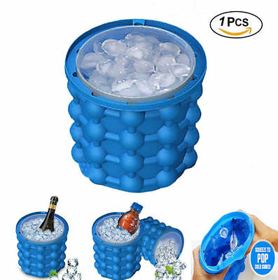 Ice Cube Maker Silicone Trays Ice Cube Maker Genie Molds Kitchen Tool Cocktail