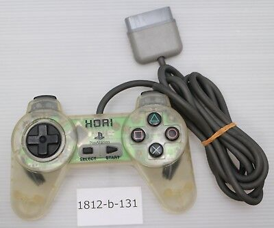 [Free ship] PS1 Controller Clear HORI PAD II Official Work Japan SLPH-0031 B