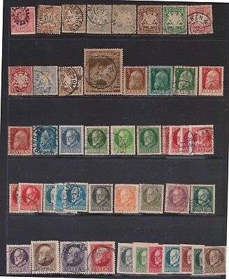 (Q32-10) 1849-1919 Bavaria mix of 47 stamps value to 3M mixed condition (J)