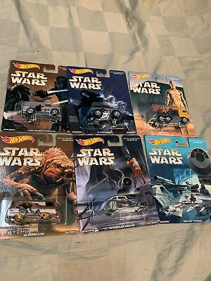 Star Wars Hot Wheels 2016 Pop Culture Series Set of 6 Brand New Ralph McQuarrie