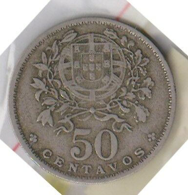(H119-19) 1951 Portugal 50 Centavos coin (S)
