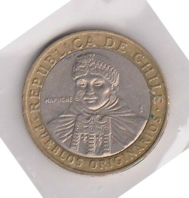 (H120-69) 2010 Chile 100 Peso coin (BO)