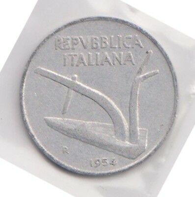 (H119-79) 1954 Italy 10c coin (CD)