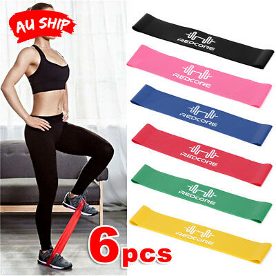 6pcs Resistance Loop Bands Exercise Band Crossfit Strength Fitness Gym