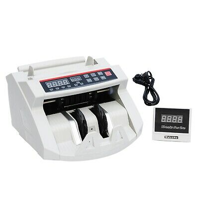 MT88 Money Bill Cash Counter Currency Count Machine Bank Counterfeit UV & MG New