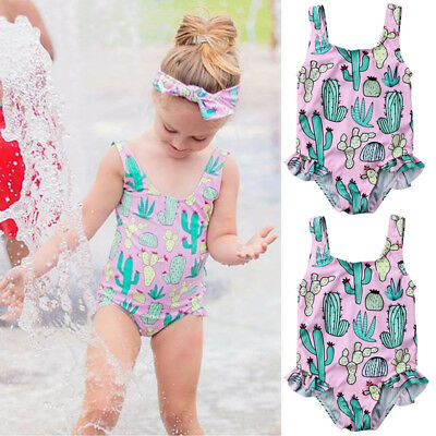 Cactus Toddler Kid Baby Girl Swimwear Swimsuit Bikini Bathing Swimming Costume