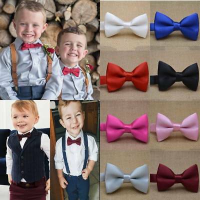 5a38652bc135 UK Kids Boys Children Wedding Party Adjustable Pre Tied Bow Ties Tuxedo Bow  Tie