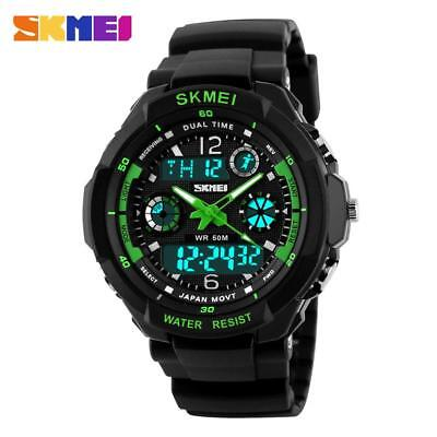 SKMEI Men's Women Waterproof Sport Alarm Date Analog Digital Wrist Watch AUBC#