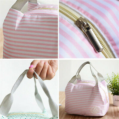 Portable Insulated Thermal Cooler Lunch Box Carry Tote Picnic Storage Bag SO