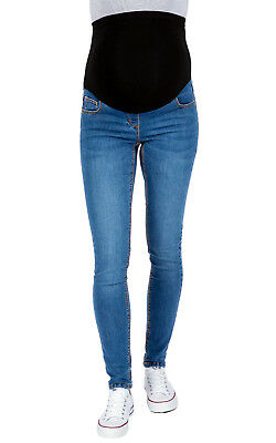 NEW LOOK Maternity Over Bump Skinny Jeggings, Light Blue Pregnancy Jeans