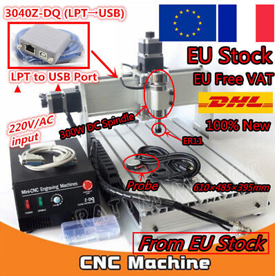 【France】3 Axis USB 3040Z-DQ CNC Desktop Cutting Engraving Milling Machine Router