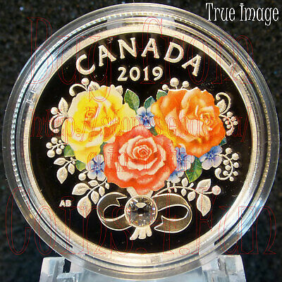 2019 Celebration of Love - $3 Pure Silver Coin with Swarovski Crystals - Canada