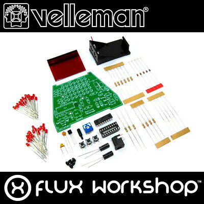 Velleman Rolling Message Mini Kit MK124 Unsoldered DIY Red 16 Flux Workshop