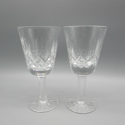 SET OF TWO - Waterford Crystal LISMORE White Wine Glasses