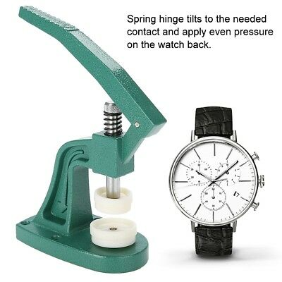 Watch Back Case Press Closer Watchmaker Crystal Glass Fitting Repair Tool Set