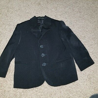size 4t black suit long sleeves