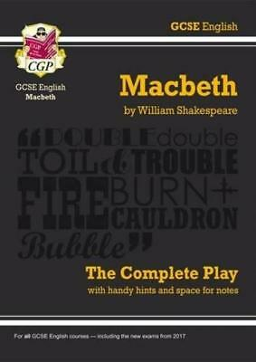 Grade 9-1 GCSE English Macbeth - The Complete Play (CGP Revision) Paperback...