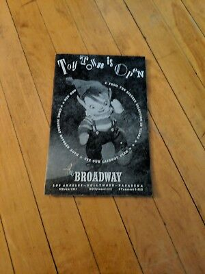VTG 1950's TOY TOWN IS OPEN CHRISTMAS CATALOG THE BROADWAY LOS ANGELES CA