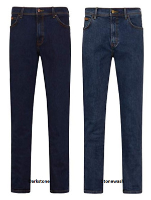 Mens Jeans Wr@ngler Iconic Trousers Straight Denim Stretch Pants Regular Fit