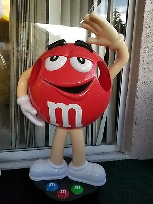 "M&M Red Character Store Display - RARE large size! 43"" CUTE!"