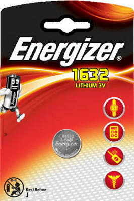 1 x Energizer 1632 CR1632 3V Lithium Coin Cell Battery DL1632 KCR1632, BR1632