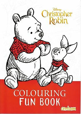 DISNEY Christopher Robin Colouring Fun Book Art Winnie The Pooh Piglet Creative