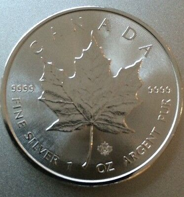 2014 $5 Silver Canadian Maple Leaf 1oz. (Brilliant Uncirculated)