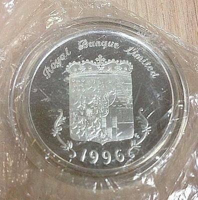 1996 Royal Banque Limited .999 SILVER MEDALLION 1 Troy Ounce Coin