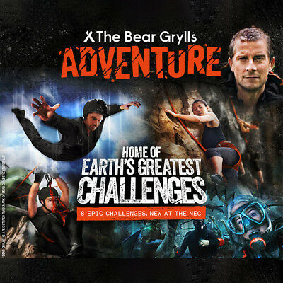 2 x The Bear Grylls Adventure Tickets (Booking Code) Pick Your Date