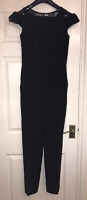 a19216005ab BNWT REISS NICKY Lace Detail Jumpsuit . Navy. UK Size 8. RRP £245 ...