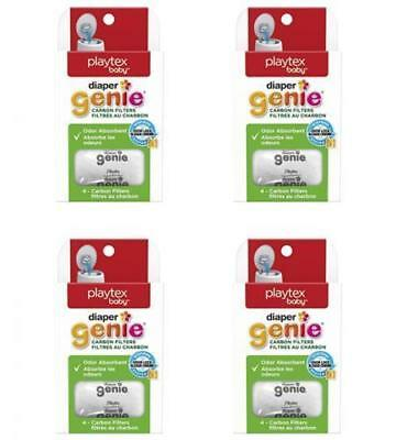 Playtex Carbon Filter Refill Packs for Diaper Genie, 4 Boxes = 16 Refills