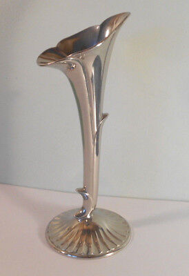 Art Nouveau style Silver flower bud art vase~Raimond~vtg~beautiful condition