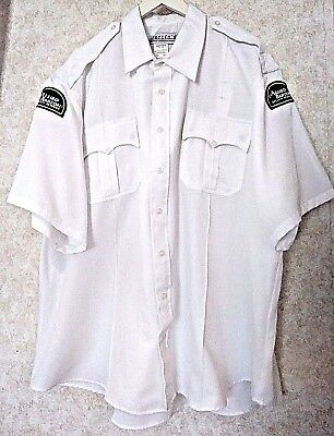 Allied Barton Security Guard Button Work Shirt Mens Size 19 1 2