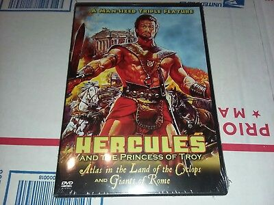 Hercules and the Princess of Troy/Atlas in the Land of the Cyclops/Giants of...