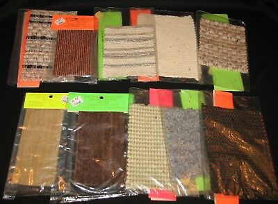 NEW Vintage Mixed Lot Of 10 Dollhouse Miniature Woven Accent Rugs - Set 3