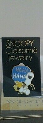 Vintage Peanuts Snoopy Laughing Closionne Jewelry Aviva Pin Mint