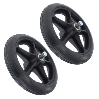 """2x Patients 7"""" Wheelchair Front Castor Wheels Replacement Part 5/16 Bearing"""