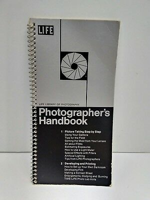 Time Life Library of Photography Photographer's Handbook Spiral Bound 1970