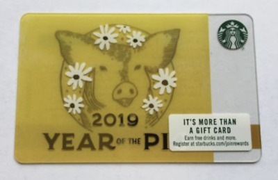 Starbucks Chinese New Year 2019 Gift Card - Year of The Pig