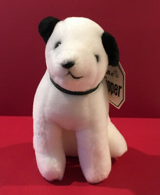 "Vintage RCA Nipper Dog Plush Dakin 6"" with Original Tag Rare Size NOS 1985"