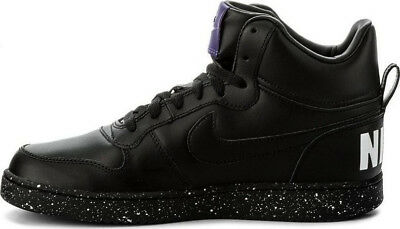 NIKE COURT BOROUGH Mid SE Black Sneakers 916759-001 UK Size 9   EU ... 5ea06868e4f