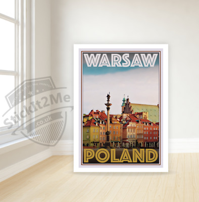 Art Deco Travel Posters Lovely Vintage Retro Holiday Tourism *Unique* Warsaw