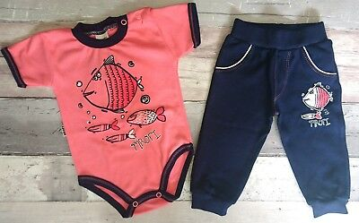 Baby Girls/Boys Outfit Set Babygrow Trousers 100% COTTON 0-3/6-9 Months