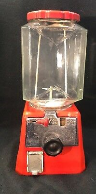 Rare 1930's Simmons Coin 1 Cent Peanut Machine - Model Aj - Original Glass!